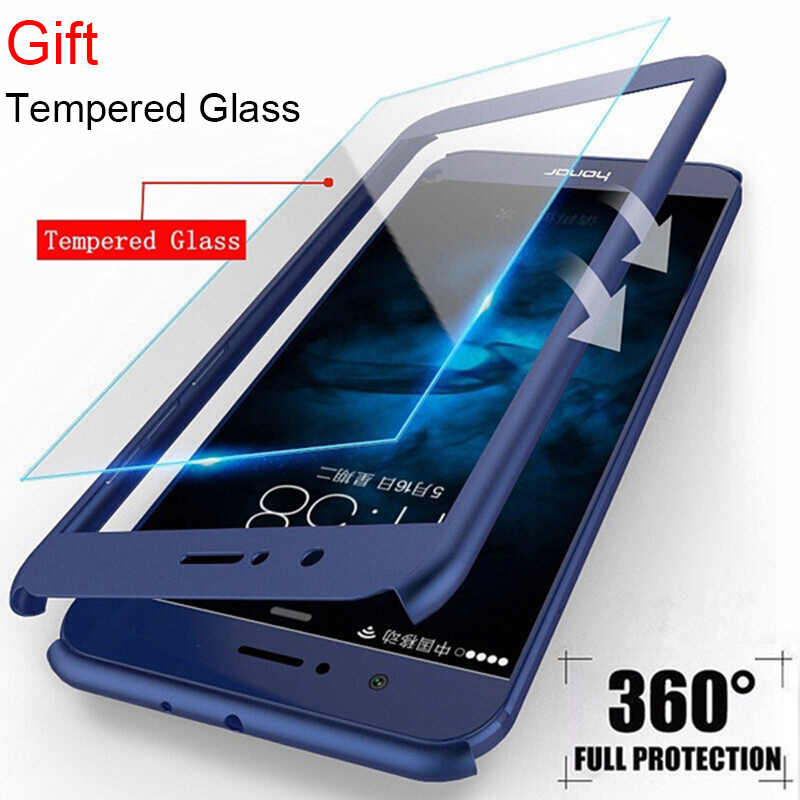 Tempered Glass Case for Huawei Mate 20 Lite X 10 9 Hard PC Screen Film 360 Case for Huawei Y9 2019 Y6 Prime Y7 Pro 2018 Y5 2017
