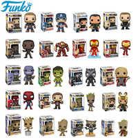 FUNKO POP Marvel Avengers Spiderman Iron Man PVC Action-figuren Brinquedos Sammlung Modell Original Box Spielzeug Geburtstag 3F20