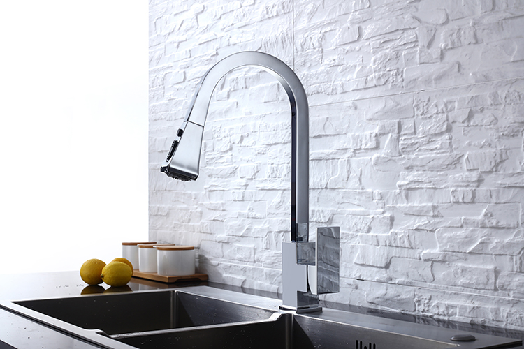 H2f4e12219d5c4a6383a91f13b7a10825s Black Kitchen Faucet Pull Out Kitchen Tap Single Hole Handle Swivel 360 Degree Hot Cold Water Mixer Tap Kitchen Water Tap Faucet