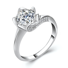 2019 Newest Alloy Ross Inlay CZ Crystal Finger Rings For Women Female Temperament Luxury Rhinestone Engagement Party Rings newest viennois fashion jewelry gun color geometric finger rings for woman rhinestone and crystal party accessories