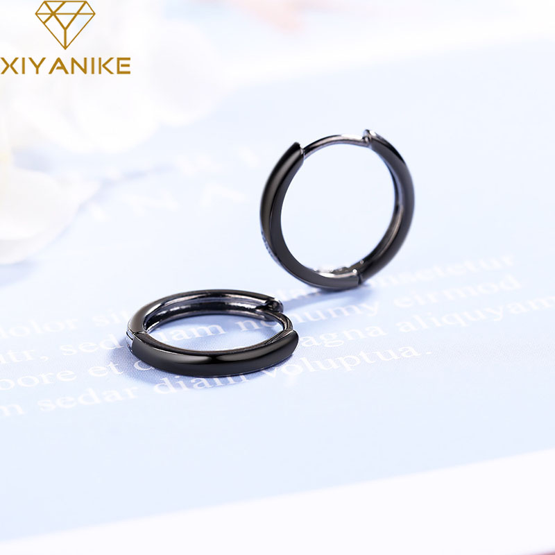 XIYANIKE Minimalist 925 Sterling Silver Glossy Earring Charm Women New Fashion Small Stud Earrings Party Jewelry Prevent Allergy
