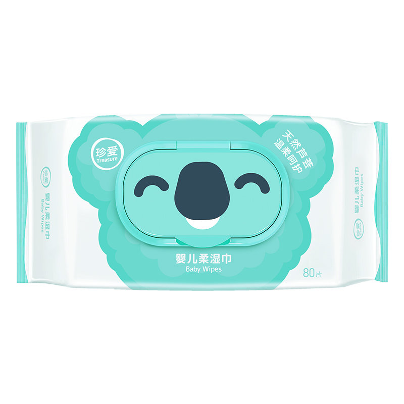 1 Bag 80 Count Treasure Soft Hands & Face Wipes Disposable Baby Wet Wipes Multi Purpose Wet Tissue For Baby