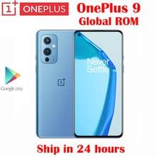 Orijinal yeni resmi Oneplus 9 5G akıllı telefon Snapdragon 888 6.55 inç AMOLED 120Hz yenileme hızı 50MP 4500mah 65W flaş şarj