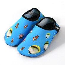 Дышащая обувь для плавания для мужчин и женщин и детей; нескользящая обувь для плавания; обувь с красной пяткой; милые Мультяшные сандалии