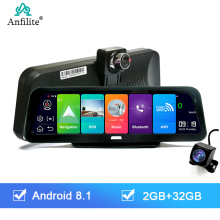 Anfilite 4G Adas Auto Dashcam Android 8.1 Wifi Dvr Camera Hd 2 + 32G Dual Lens Auto Dash cam Gps Navigator Parking Monitor