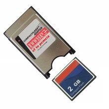 2 em 1 cartão compacto industrial 64 mb 128 mb 256 mb 1 gb 2 gb do cf do flash com adaptador do cartão de pcmcia 68pin para o cnc