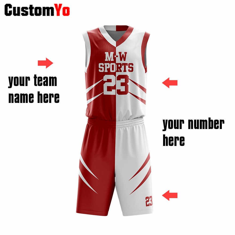 Dostosowana koszulka koszykarska dla dorosłych Blank Club Team sport treningowy zestawy męskie koszulki koszykarskie