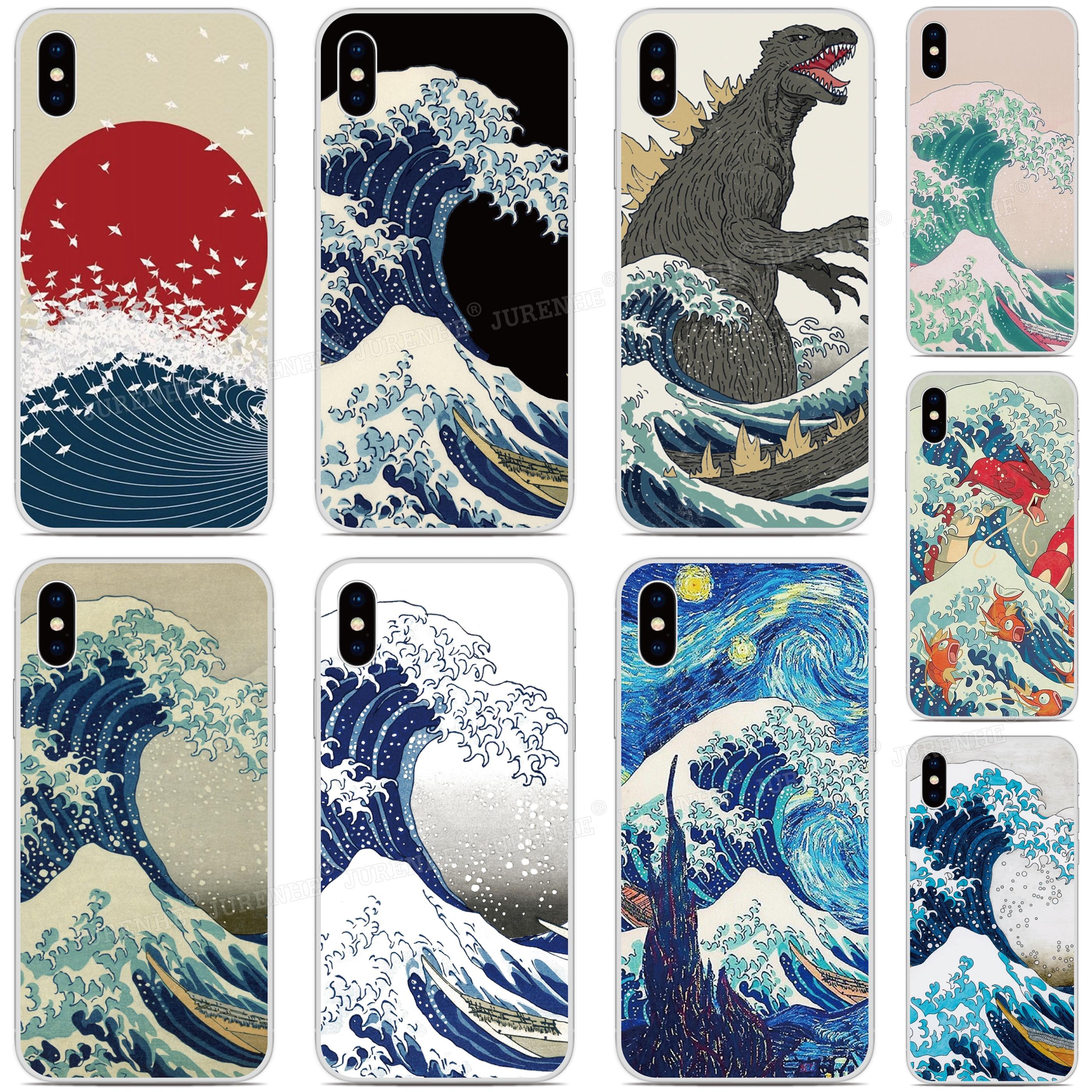 2019 Funda Wave Off Kanagawa Silicone Soft TPU Phone Case For LG K50s K40s K20 K30 K40 K50 Q60 X2 G8X G8S Thinq W10 W30 Cover