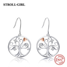 цены New arrival 925 sterling silver earrings luxury tree of life drop earrings authentic diy fashion jewelry making for women gift