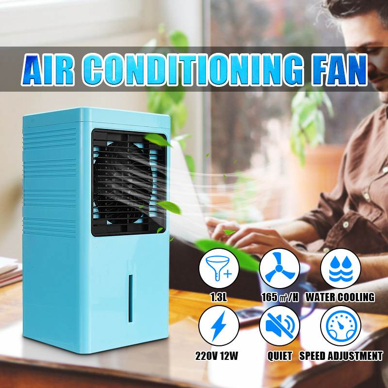 12W Portable Air Conditioner Fan 1.3L Water Tank Conditioning Purifier Humidifier Desktop Air Cooler Personal Space Cooling