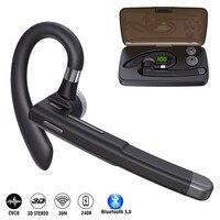 YK520-auriculares inalámbricos con Bluetooth, dispositivo de audio con cancelación de ruido y micrófono para conductor, con caja de carga para teléfonos