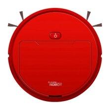 2500Pa Многофункциональный Умный пылесос робот-щетка влажная Швабра Автоматическая 3-в-1 подзарядка сухой влажный подметальный пылесос красный