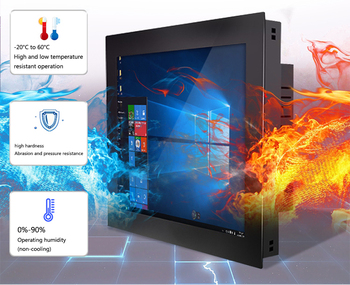 7 8 10 11 12 15 17 19 21 inch Touch Screen 1000cd/ m2 Industrial Interactive Panel PC