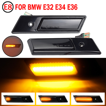Side Marker Turn Signal Light For BMW 3 5 7 Series E32 E34 E36 1990-1996 LED Sequential Lamp Dynamic Blinker Indicator image