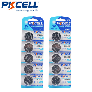 Image 1 - 10 Pcs PKCELL CR2450 3 V CR 2450 DL2050 BR2450 แบตเตอรี่ลิเธียมแบตเตอรี่สำหรับรีโมทคอนโทรล LED light vibes เครื่องคิดเลขรถ