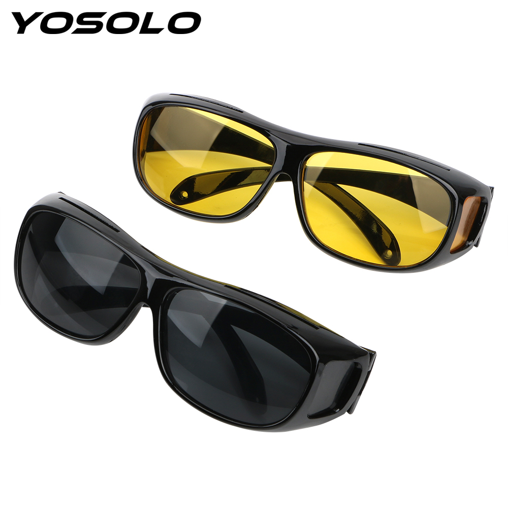 Dropshipping Sunglasses Night Vision Glasses Car Driver Goggles Unisex HD Vision Sun Glasses