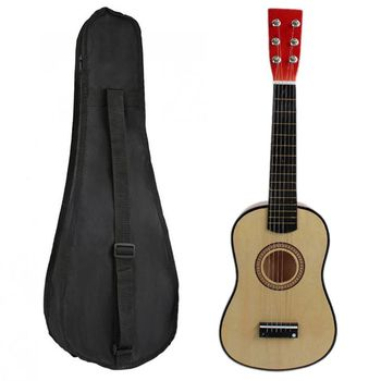 100% New 1pcs 23 Inch Guitar Mini Guitar Basswood with Plectrum String & 1pcs 23 Inch Black Uke Bag Portable Ukulele Gig Bag acoustic custom guitar 41 inch full size 6 string basswood with guitar kit from us