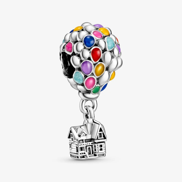 2020 Summer New S925 Sterling Silver Beads Up House & Balloons Charms fit Original Pan's Bracelets Women DIY Jewelry 1