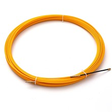 New 30M 3mm Guide Device Fiberglass Electric Cable Push Pullers Duct Snake Rodder Tape Wire Mayitr Yellow 2019