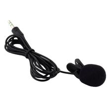 2m Mini Portable Lavalier Microphone for Phone 3.5mm Wired Condenser Clip-on Microphone Hands Free Mic For PC Computer Mikrofo