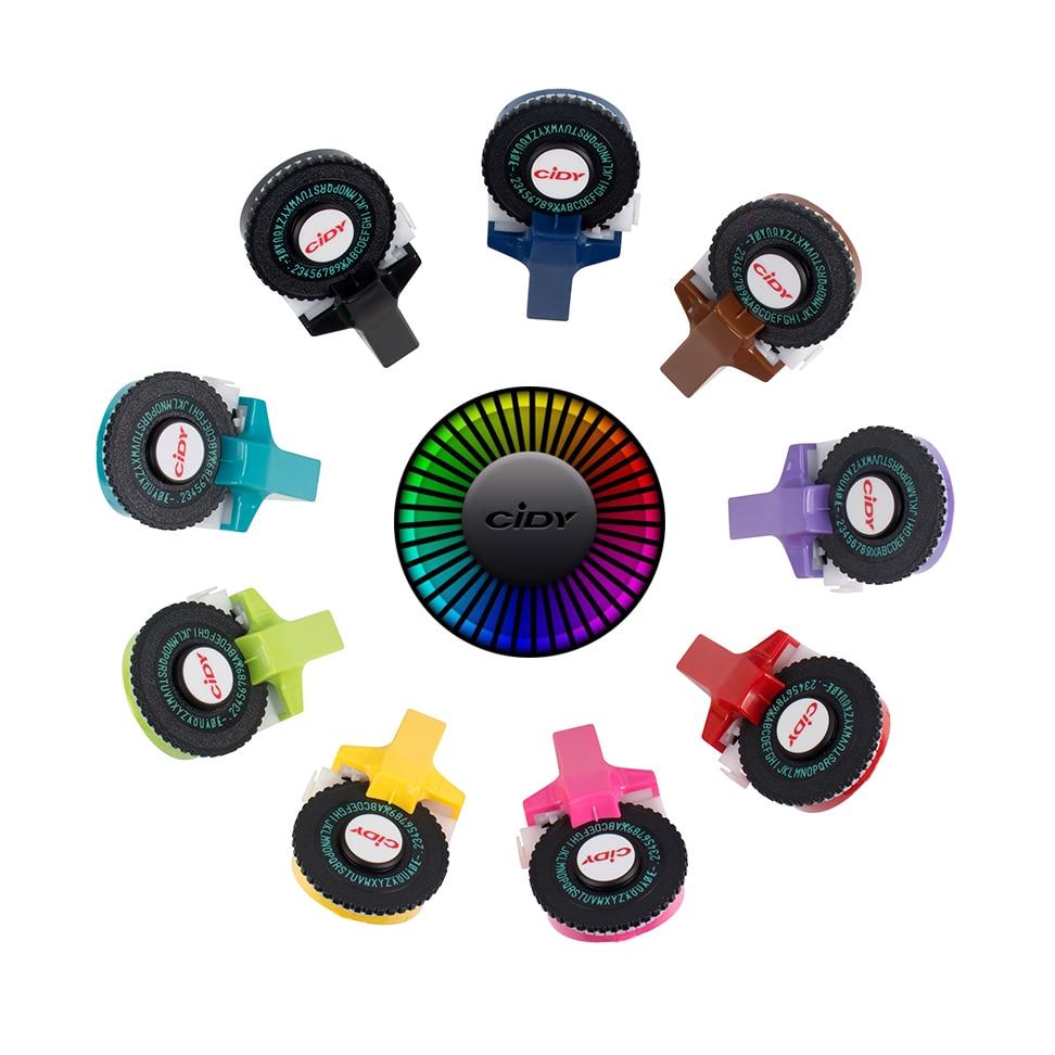 CIDY marque pour MoTex E101 imprimante Mini bricolage main pour dymo 3D gaufrage manuel ruban manuel machine à écrire lettrage