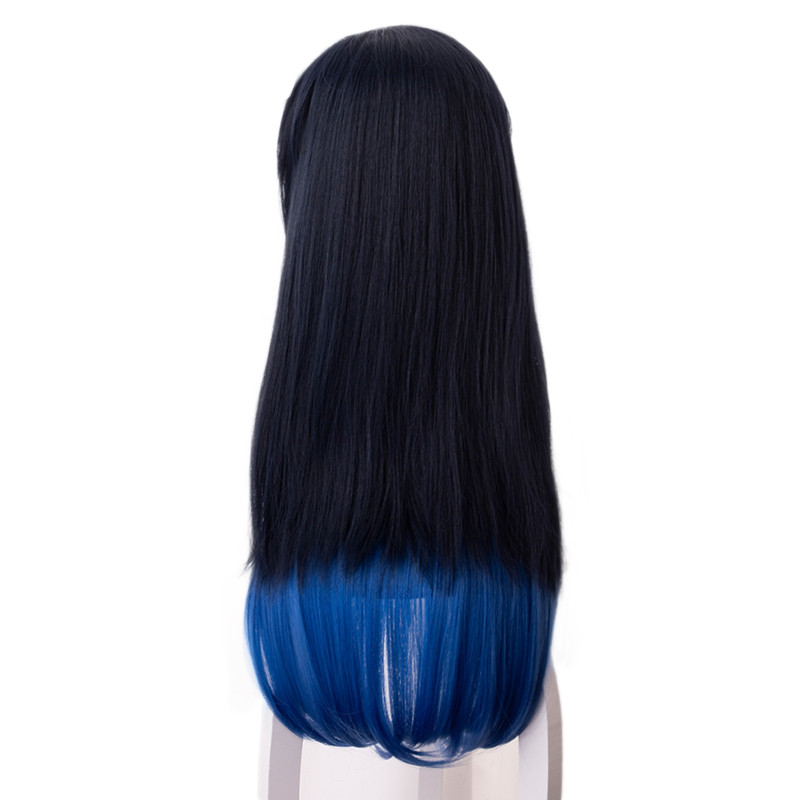 Image 5 - Demon Slayer Kimetsu no Yaiba Hashibira Inosuke Cosplay Wig Gradient long straight Hair wig Halloween Carnival costume WigsAnime Costumes   -