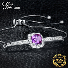 Created Alexandrite Sapphire 925 Sterling Silver Bracelet Bolo Chain Gemstones Bracelets For Women Silver 925 Jewelry Making jewelrypalace elegant 2 43ct created alexandrite sapphire cubic zirconia halo adjustable bracelets for women 925 sterling silver