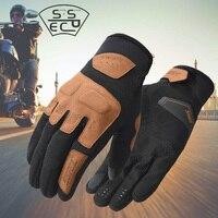 Мужские перчатки для верховой езды на мотоцикле весна-лето, Горные перчатки для езды на пересеченной местности, уличные Ретро перчатки для ...