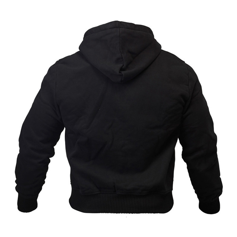 Thin Black Sweatshirt Men Hooded For Men Fitness Bodybuilding Hoodies Sweatshirts Zipper Big Pocket Hoodie Men Long Sleeves