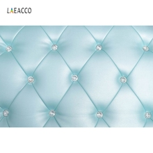 Laeacco Light Blue Soft Decor Headboard Photography Backdrops Vinyl Customs Backgrounds Props For Photo Studio