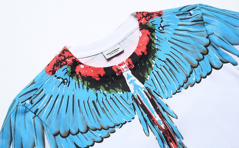 2019 Students Big Talker Marcelo Original Wing Short Sleeve T-shirt Popular Brand Crew Neck Large Size Summer Couples M Sleeves