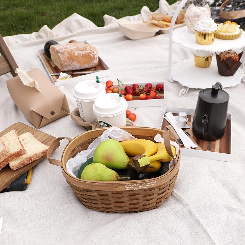 SWEETGO инструменты для пикника стол для хранения тарелок коврик для пикника и корзина украшение дома десерт еда стол Кемпинг Сад Вечерние|Миски и тарелки|   | АлиЭкспресс - Предметы для кухни