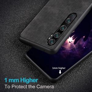 Image 5 - Mofi For Xiaomi cc9 pro Case for Mi Note 10 pro Cover Housing  Silicone  shockproof jeans PU leather Black TPU MOFi Original