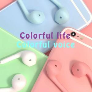 Image 3 - JTKE – écouteurs intra auriculaires couleur Macaron, 3.5mm, HIFI, oreillettes de dessin animé, avec micro, pour Iphone Xiaomi Huawei