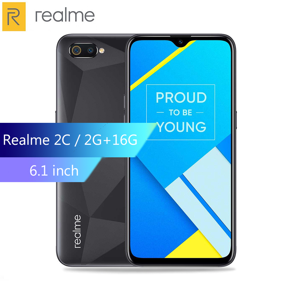Realme C2 4G Smartphone 6.1 Inch Android 9.0 Helio P22 Octa Core 13.0MP + 2.0MP Rear Camera 4000mAh Battery Mobile Phone