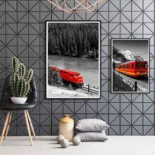 Серия городских картин деревенский черно белый пейзаж холст