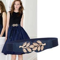 Woman luxury dress decorative belt fashion elastic female waist seal Korean ladies belt elastic belt