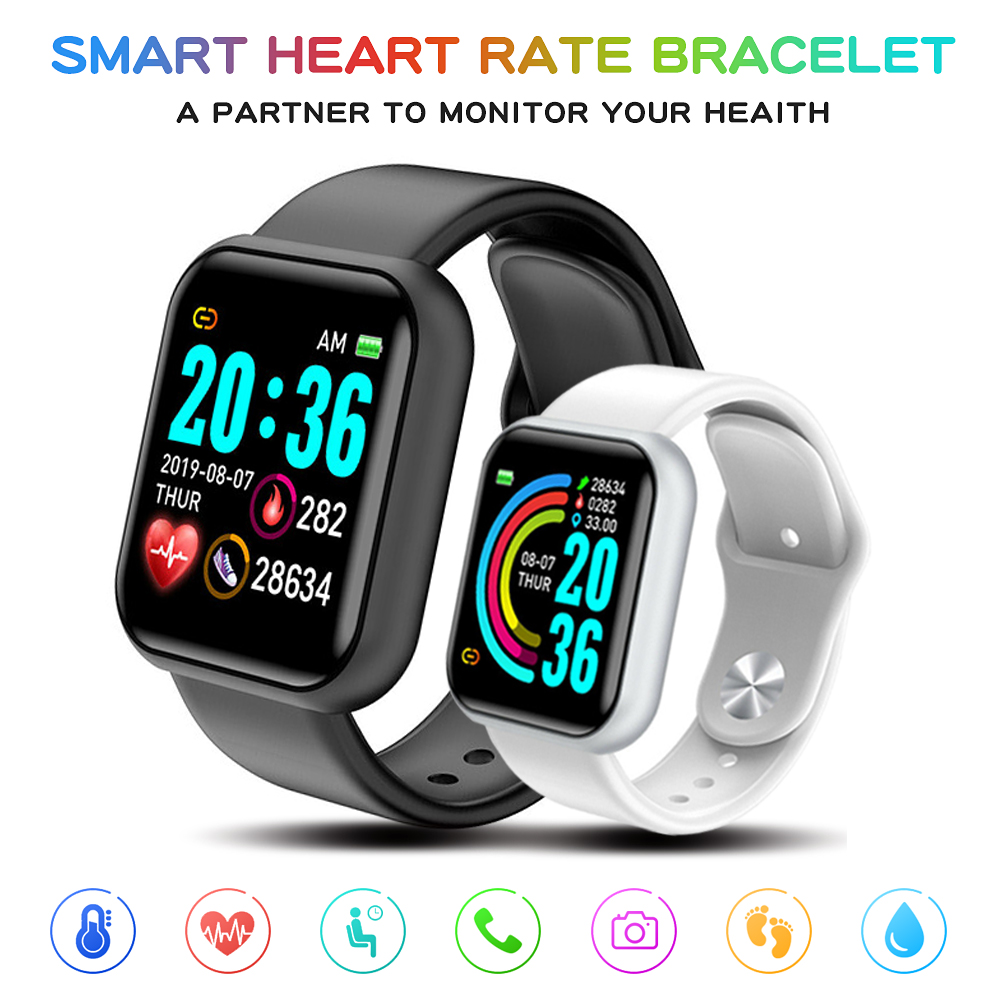 D20pro Smart Watches Men Heart Rate Watch Sleep Tracker Smart Wristband Bluetooth Sports Watches Smart Band Fitness Tracker