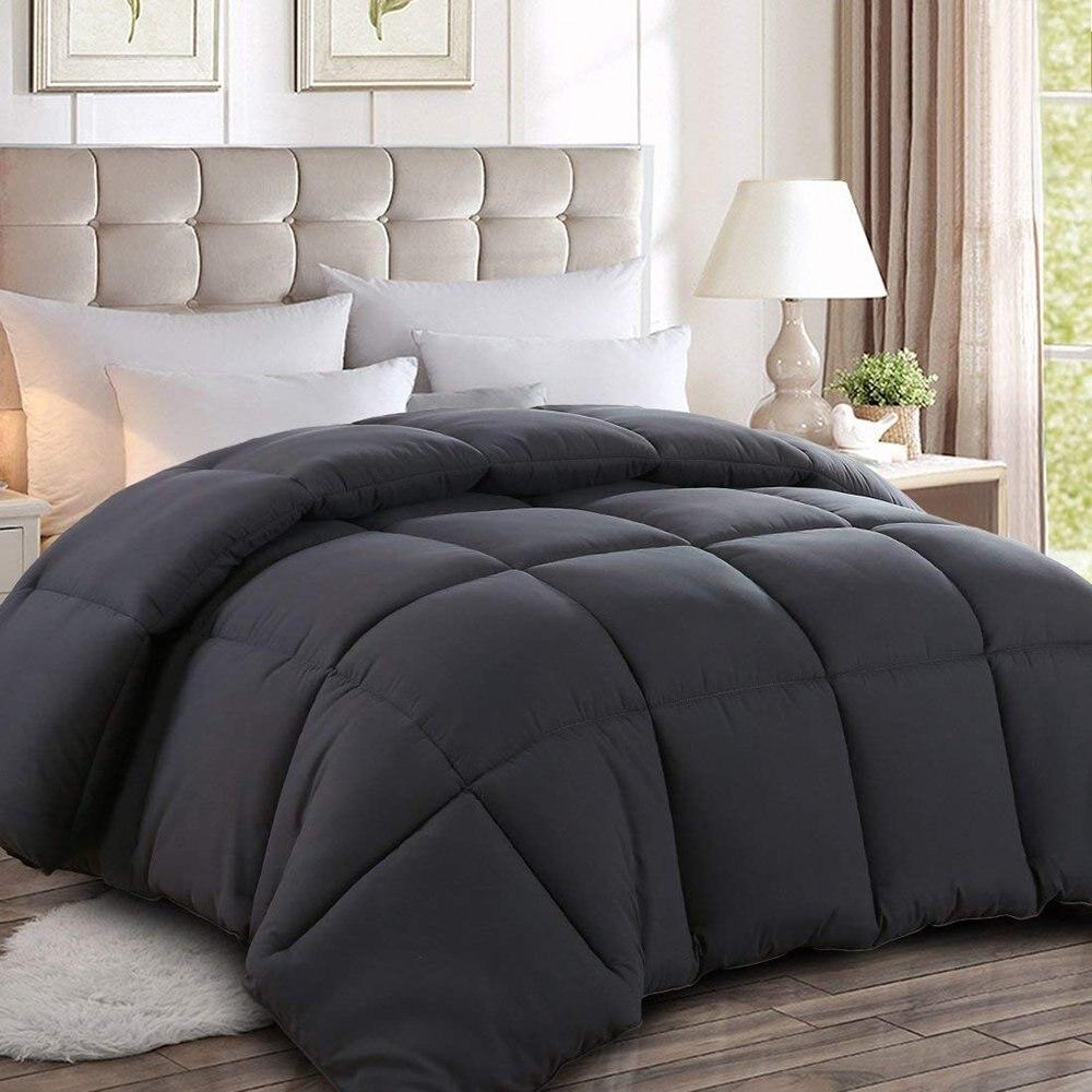 6 Solid Color Soft Goose Down Blanket Comforter Duvet