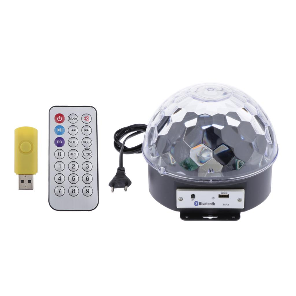 1 Set Voice Control RGB Stage Light Crystal Magic Ball Stage Light For Party