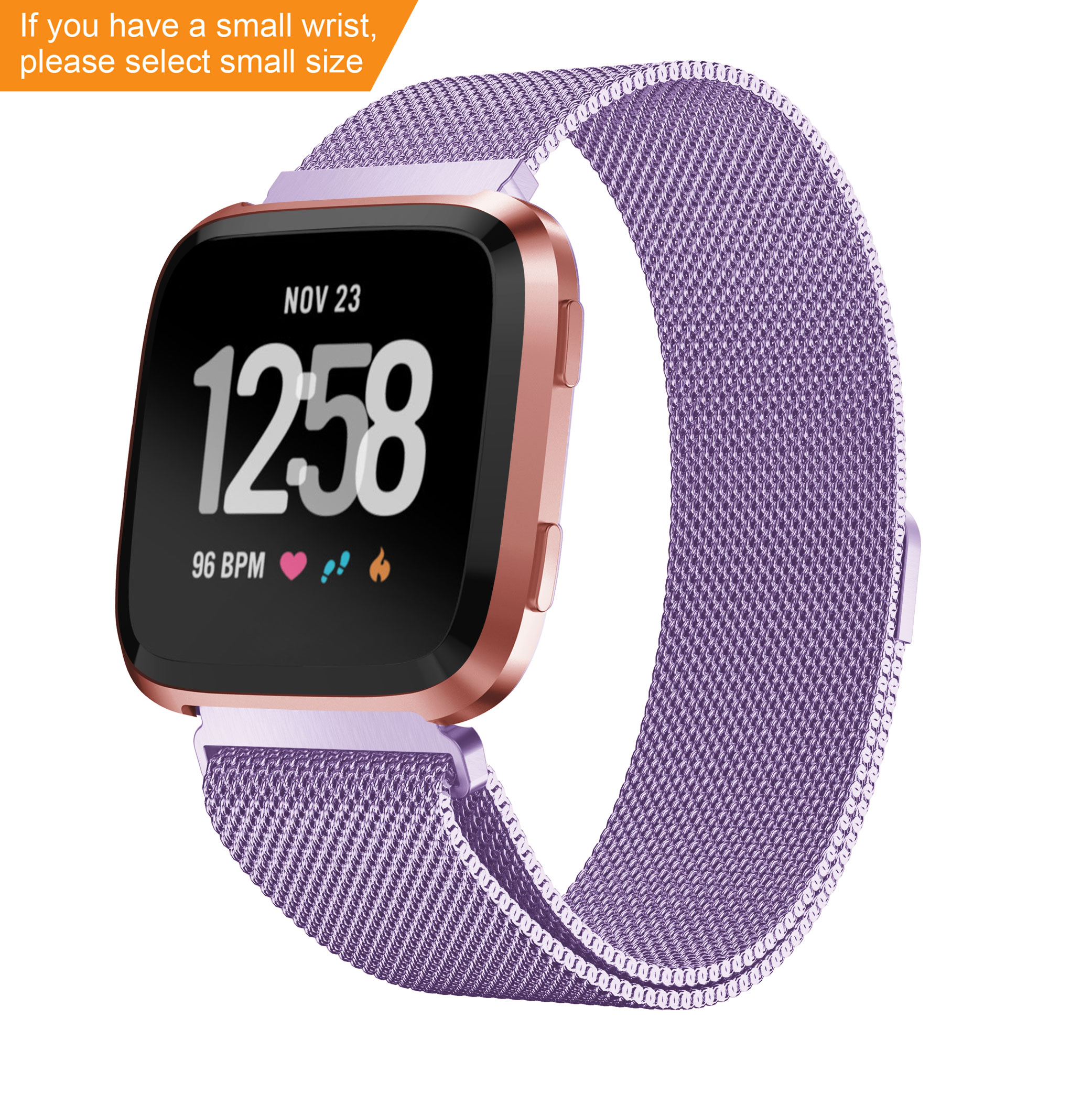 YAYUU Magnetic Milanese Loop Band For Fitbit Versa /Blzae Stainless Steel Wrist Strap For Fitbit Versa 2 /Versa Lite SmartWatch