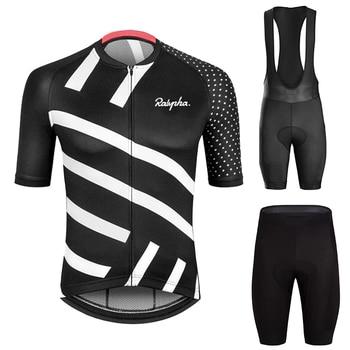 2020 Raphaful Cycling Jersey Set Breathable Pro Team Bicycle Clothing Bib Shorts Suits Bike Wear Triathlon