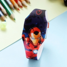 Dazzling Color Light Boy Wrist Watches Marvel Avengers Super Hero