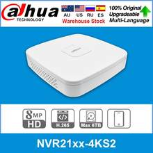Dahua original 4k nvr NVR2104-4KS2 NVR2108-4KS2 NVR2116-4KS2 4/8/16ch 1u lite gravador de vídeo em rede h265 para o sistema de câmera ip