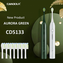 Sonic Toothbrush CANDOUR Replacement-Heads Usb-Charge Electric Adult Waterproof CD5133