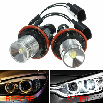2x 6000K Angel Eyes Halo 20W CREE LED Ring Marker Bulbs For BMW X5 E39 E60 E63 E61 Motorcycle Headlight Bulb Lamp Car Accessorie image