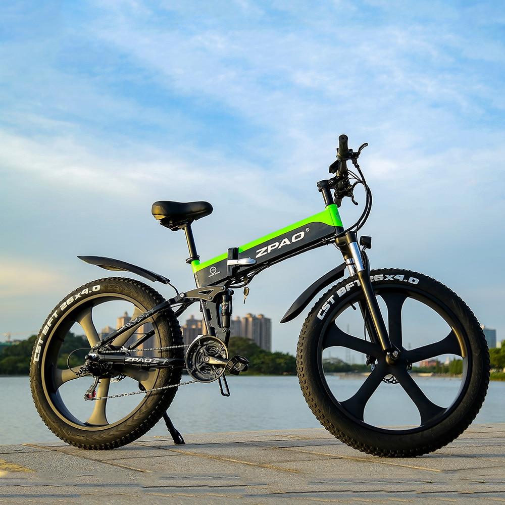 ZPAO Fat Bike e Bike 1000W Folded Electric Bicycle Electronic Bikes Bicicleta Electrica Adulto Mountain Electrical Bicycles 3