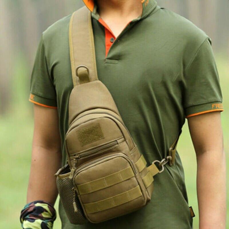 Men Crossbody  Tactical Military Chest Bag Sling Messenger Shoulder Pack