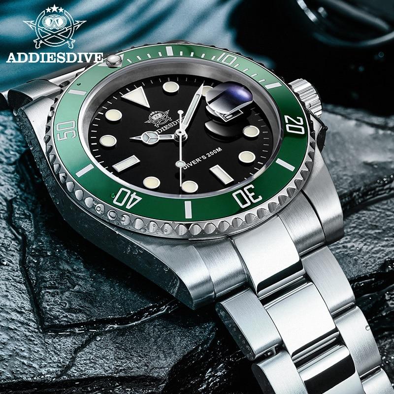 1986 Leather For Men NATO Nylon Steel diving watch 200m C3Super luminous Sport luxury stainless steel watch  Quartz Men's Watch 3