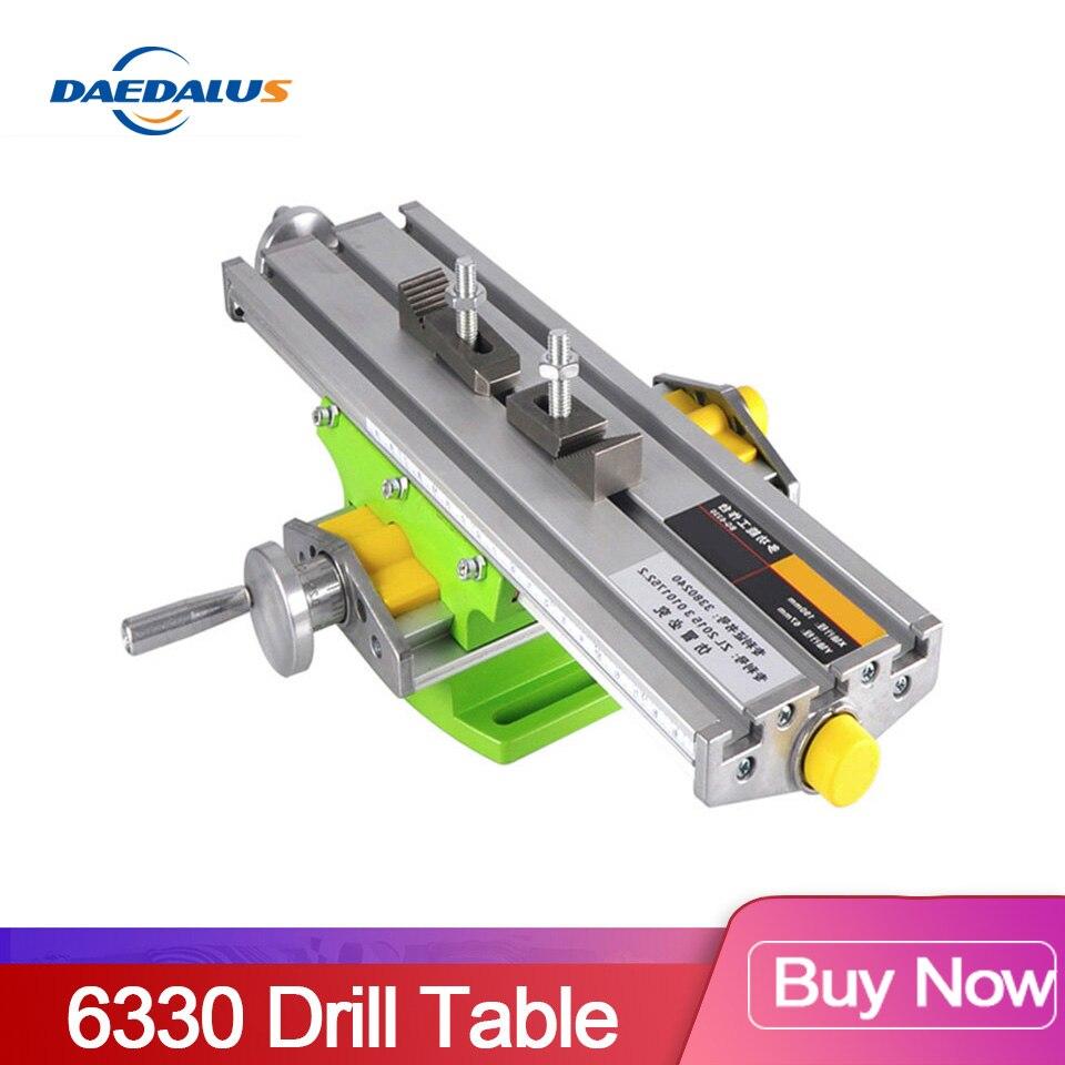 Schraubstock 6330 Bohrer tisch Mini Multifunktionale Kreuz Arbeitstisch XY-achse einstellung Koordinieren tisch Für cnc fräsen maschine